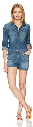 True Religion Women's Long Sleeve Denim Jumpsuit