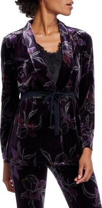 Nic+Zoe Soft Petal Floral Velvet Jacket