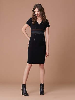 Diane von Furstenberg Short Sleeve V-Neck Tailored Dress