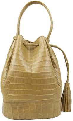 Nancy Gonzalez Beige Crocodile Handbag