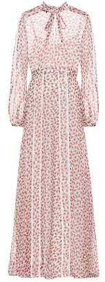 Rochas Floral-printed silk maxi dress