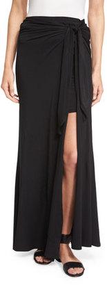 Ella Moss Bella Tie-Waist Maxi Skirt, Black $138 thestylecure.com