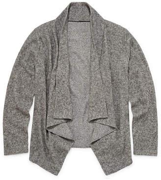 Arizona Long Sleeve Grey Cardigan - Girls' 4-16 & Plus