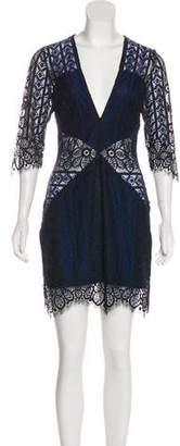 For Love & Lemons Mini Lace Dress