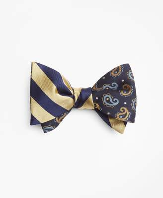 Brooks Brothers Pine and Dot with BB#4 Rep Stripe Reversible Bow Tie