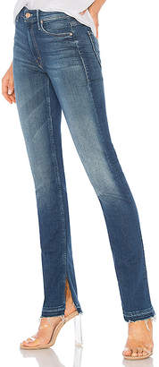 Mother The Rascal Slit Undone Hem Jean