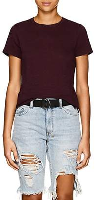 "ATM Anthony Thomas Melillo Women's ""Schoolboy"" Slub Cotton T-Shirt - Wine"