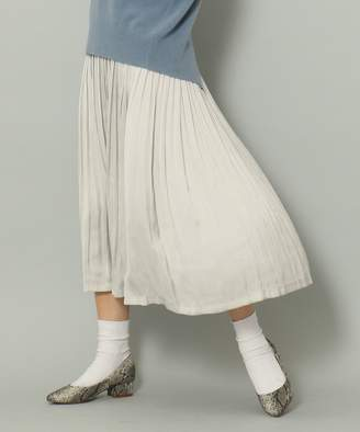 SHARE PARK (シェア パーク) - SHARE PARK LADIES 【新色追加】【WEB限定サイズあり】モイストサテン プリーツ スカート(C)FDB