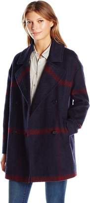 Tommy Hilfiger Women's Double Breased Oversized Wool Coat