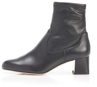 Marion Parke Tatum | Eco Nappa And Leather Block Heel Bootie