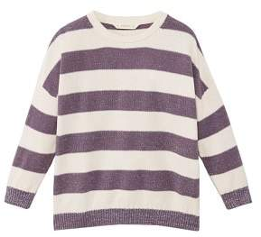 MANGO Metal thread striped sweater