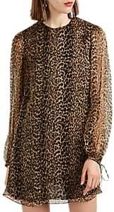 Saint Laurent Women's Leopard-Print Silk Chiffon Minidress