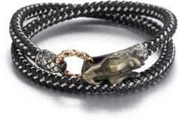 John Hardy Braided Wrap Sterling Silver Bracelet
