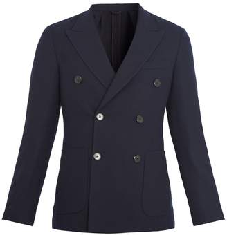 Prada Double-breasted wool and cashmere-blend blazer