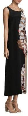 Lafayette 148 New York Palmer Leaf-Print Silk Maxi Dress
