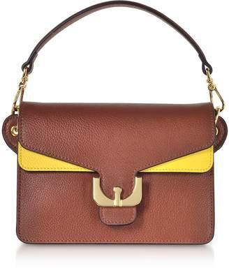 Coccinelle Ambrine Soft Color Block Grained Leather Mini Shoulder Bag