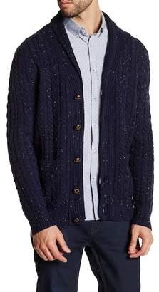 Barque Shawl Collar Tweed Knit Cardigan $165 thestylecure.com