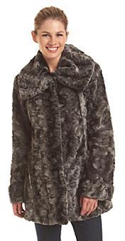 Jones New York® Chinchilla Faux Fur Jacket