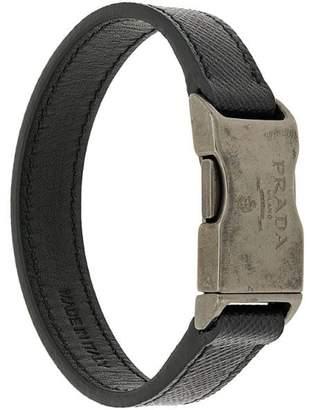 Prada Saffiano buckle bracelet