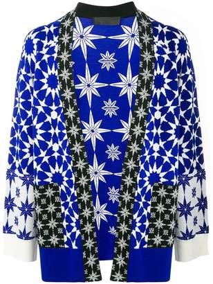 Haider Ackermann printed open-front jacket