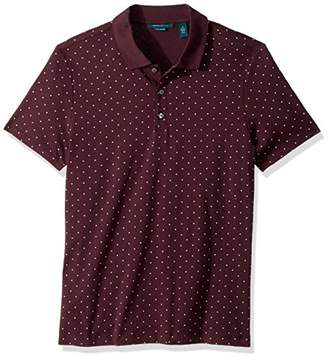 Perry Ellis Men's Micro Print Pima Cotton Polo Shirt