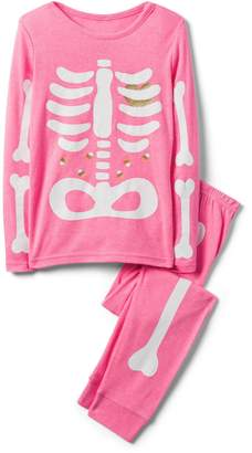 Crazy 8 Crazy8 Neon Skeleton 2-Piece Pajama Set
