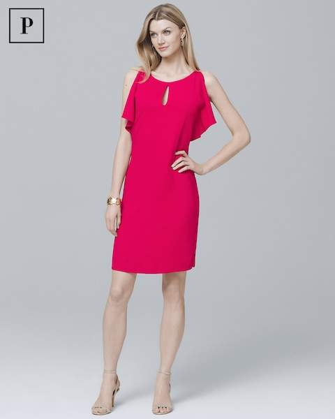 Whbm Petite Split Sleeve Shift Dress