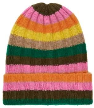 The Elder Statesman Bunny Echo Striped Cashmere Hat - Womens - Multi
