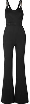 Brandon Maxwell - Embellished Crepe Jumpsuit - Black