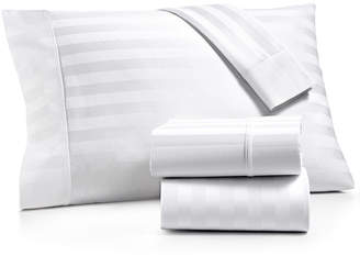 Aq Textiles Bergen Stripe 4-Pc. California King Sheet Set, 1000 Thread Count 100% Certified Egyptian Cotton Bedding