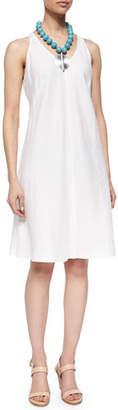 Eileen Fisher Sleeveless Linen Bias Dress, Petite $238 thestylecure.com