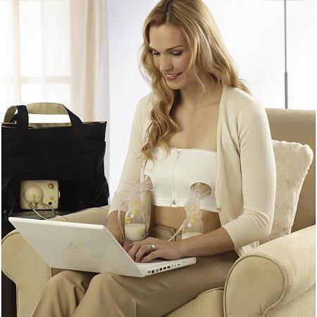 Easy Expression Medela Bustier - Hands-free pumping made easy!