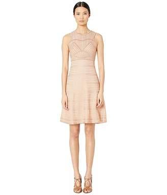 M Missoni Sleeveless Short Dress with Art Deco Stitch in Lurex