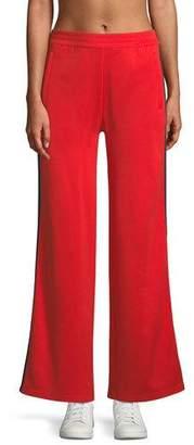 Tory Sport Wide-Leg Double-Stripe Track Pants