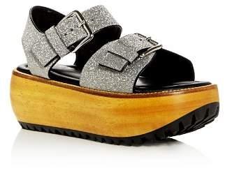 Marni Women's Glitter Platform Sandals