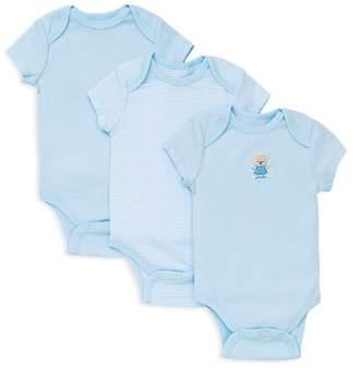 Little Me Boys' Bear Bodysuit, 3 Pack - Baby