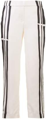 Theory stripe panel soft trousers