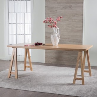 Noble House Montecito Modern Farmhouse Wood Dining Table, Multiple Finishes