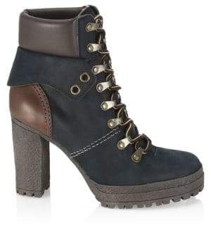 See by Chloe Eileen Black Platform Hiking Boots