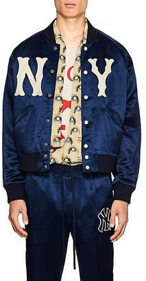 Gucci Men's NY YankeesTM Satin-Twill Bomber Jacket