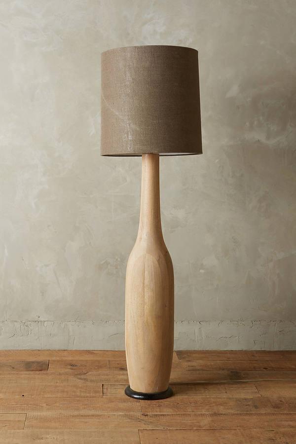 AnthropologieAnthropologie Carved Wood Floor Lamp