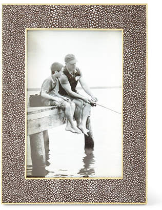 """AERIN Classic Chocolate Faux-Shagreen Picture Frame, 4"""" x 6"""""""