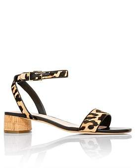 Kate Spade Lucienne Leopard Block Heel Sandal
