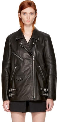Alexander Wang Black Leather Classic Biker Jacket