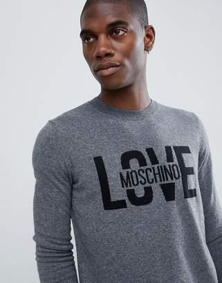 Love Moschino Logo Sweater