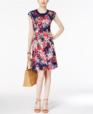 NY Collection Floral-Print Fit & Flare Dress $50 thestylecure.com