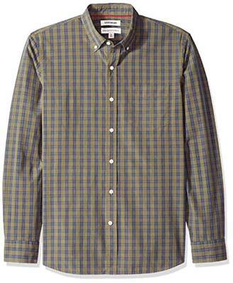 Goodthreads Men's Standard-Fit Long-Sleeve Plaid Poplin Shirt with Button-Down Collar
