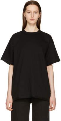 MM6 MAISON MARGIELA Black Inside Out Logo T-Shirt