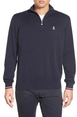 Psycho Bunny Pima Cotton Quarter Zip Sweater $140 thestylecure.com