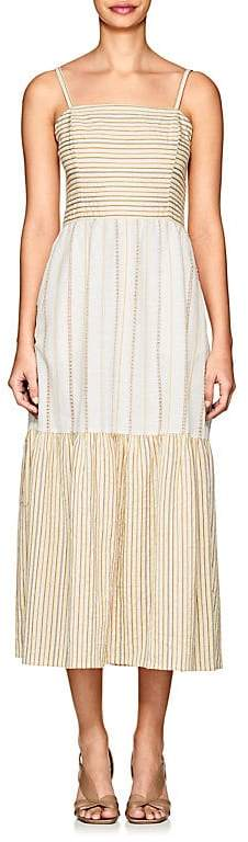 Women's Dusty Striped Cotton Maxi Dress